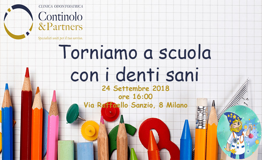 Torniamo a scuola con i denti sani | Continolo & Partners