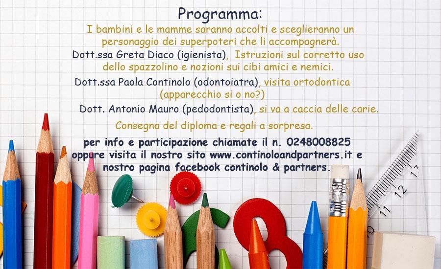 A scuola con i denti sani | Continolo & Partners